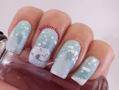 #nailart #stamping #nailart #mani #uñas #diseñodeuñas #uñasestampadas #sexynails #moda #estilo #style #fashion #winter #winternails #snow #snownails #articfox #fox