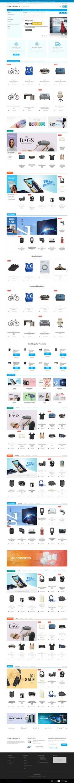 Electronics Supermarket Responsive BigCommerce Theme. Specially built for electronics supermarket BigCommerce theme with FAST LOADING and RELIABLE Apparently you have an idea of selling stuff online, but not on a market that you cannot manage at all. Bet that those are not some random items you want to put on eBay, Facebook or Google Products. It's selections of electronic products which you will organize and displace nicely on a website of your own. On that website, you are able to…
