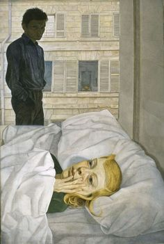 Hotel Room by Lucien Freud