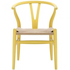 Weave Style Y-Arm Chair in Yellow by EdgeMod