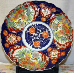 Japanese plate from the late Meiji period.