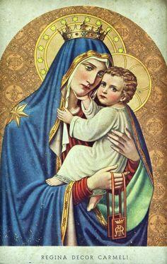 Regina Decor CarmeliAn Italian lithograph of Our Lady of Mount Carmel.