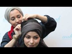 The Turban Style - Live Hijab Tutorial with Dina Tokio at Aab Flagship Boutique London - YouTube