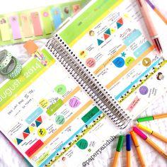 Erin Condren Life Planner - August Monthly View! @paperpanduh