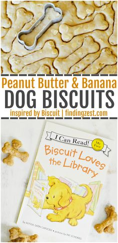 This dog biscuit recipe inspired by Biscuit the Dog is a perfect kids activity! Make these peanut butter and banana homemade dog treats with your child to pamper your pup. Don't forget to pick up… Dog Biscuit Recipes, Dog Treat Recipes, Healthy Dog Treats, Dog Food Recipes, Pet Treats, Basic Dog Treat Recipe, Dog Training Methods, Basic Dog Training, Training Dogs
