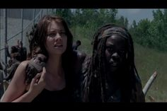 Walking dead season 4 preview-Maggie and Michonne