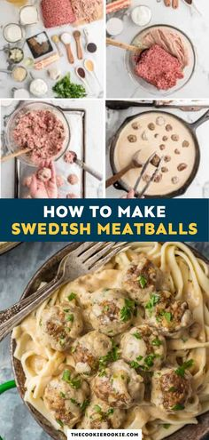Swedish Meatballs are something every cook should know how to make. This delicious recipe features a simple and juicy meatball baked in the absolute best sauce ever. Swedish Meatball Sauce, Swedish Meatball Recipes, Meatball Bake, Weeknight Meals, Quick Meals, Best Beef Recipes, Game Day Appetizers, Game Day Food, Kid Friendly Meals