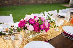 Colorful centerpiece. Photography: @coweddingphotos, Styling: @and1367, Florals:@bandbdesignco via @coweddingsmag