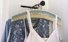 Crocheted hanger covers