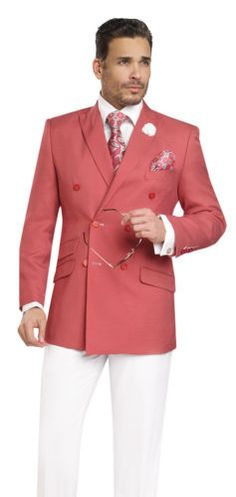 EJ-Samuel-2-PC-Double-Breasted-Nailshead-Summer-Mens-Suit-M2702-Blue-Red-Black