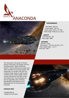 Elite: Dangerous Anaconda Falcon DeLacy Ships Brochure