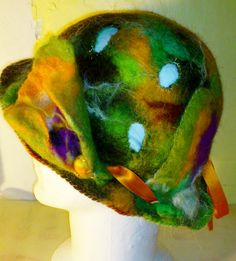 Felted handmade SummerHat with à broochs by TRICOFEUTRE on Etsy, $156.50