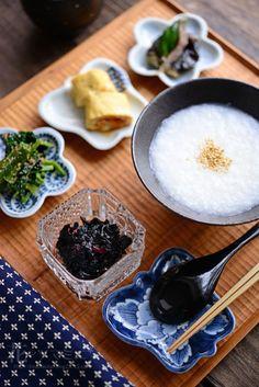 Okayu and Tsukudani meal