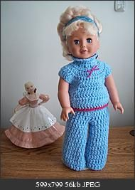 CROCHET:  Free pattern for 18 in doll outfit