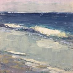 """""""Courage"""" original fine art by Whitney Heavey Ocean Paintings, Waves, Fine Art, Abstract, Artist, Outdoor, Sea, Blue, Summary"""
