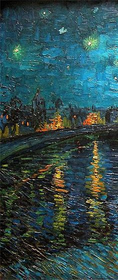 Vincent van Gogh - I can't quite put my finger on what it is that I love so much about this painting but, I find it incredibly beautiful and almost serene. The intoxicating subtle blue hue that dominates the canvas, is like a soothing lullaby for the onlooker. #art #vangogh