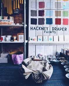 A picture from my photo shoot at @thehackneydraper yesterday. Such a great place for beautiful textiles and gorgeous fabrics for the home- go visit when on chatsworth road  by weareherenow