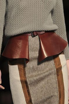 Gorgeous leather peplum belt