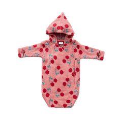 Waymine Kids Baby Girls Long Sleeve Cherry Polka Dot Print Zipper Princess Dress
