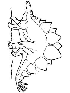 DINOSAUR coloring pages - 87 free Prehitoric Animals coloring pages & Dinosaurs to color-in for kids Dinosaur Coloring Pages, Animal Coloring Pages, Coloring Pages To Print, Dinosaur Pattern, Frog Art, Tyrannosaurus, Character Art, Kindergarten, Moose Art