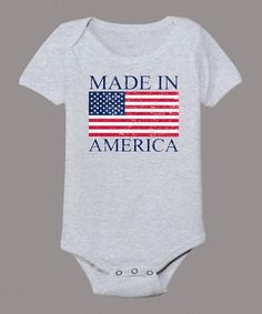 Look at this Celebration Station Athletic Heather 'Made in America' Flag Bodysuit - Infant on #zulily today!