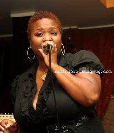 Singing at Kats Cafe during a Dwan Bosman show
