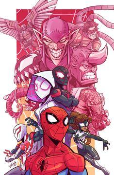 Spider-Man by Derek Laufman - Marvel Universe Comic Art, Comic Kunst, Comic Books Art, Marvel Comics, Marvel Art, Marvel Heroes, Ms Marvel, Captain Marvel, Spiderman Kunst