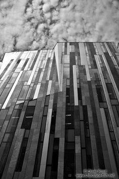 Modern facade in Budapest