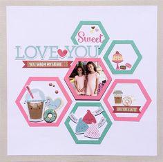 Doodlebug Design Inc Blog: Pinterest Inspired Challenge: Hexagon Shelves to Layout by Virginia Nebel