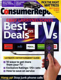 CONSUMER REPORTS MAGAZINE MARCH 2014 BEST DEALS ON TVS RX LUXURY CARS MATTRESS