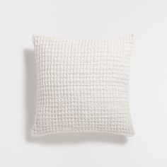 WHITE WAFFLE-EFFECT CUSHION COVER - Cushions - Bedroom | Zara Home United Kingdom