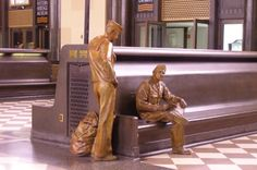 statues at the Union Station in Omaha, Nebraska North Platte, Missouri River, Union Station, Roadside Attractions, Home And Away, Best Memories, Architecture Details, Small Towns, That Way