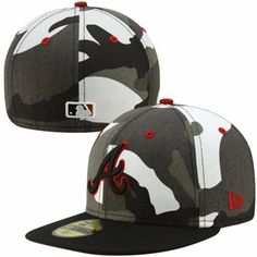 2de4a56f46a New Era Atlanta Braves Urban Camo 59FIFTY Fitted Hat - Black White
