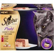 Sheba Variety Pack Premium Pate Premium Canned Cat Food 3 oz 24PackPack of 3 -- More info could be found at the image url.(This is an Amazon affiliate link and I receive a commission for the sales)