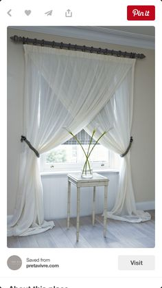 New home? Feel like you need to revamp your bedroom? These 20 Master Bedroom Decor Ideas will give you all the inspiration you need! Come and check them out (Diy Curtains Blackout) Curtains Living, White Curtains, Hanging Curtains, Bedroom Curtains, Elegant Curtains, Cotton Curtains, Farm Curtains, Small Window Curtains, Neutral Curtains