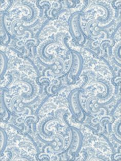 Blue Paisley Wallpaper | Brand: Sandpiper Studios | Book: Cottage English | Item #:WTG-067673 | $71.98 (double roll)