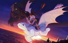 I don't ship HiJack, but this is a beautiful fan art and The Light Fury is a perfect match for Toothless, Jack Frost and Else. I am Hiccstrid shipper for life and forever don't get me wrong 🖤💙💚💙 Httyd Dragons, Dreamworks Dragons, Disney And Dreamworks, Disney Pixar, Jack Frost, Film Disney, Disney Art, Disney Ships, Hiccup Jack