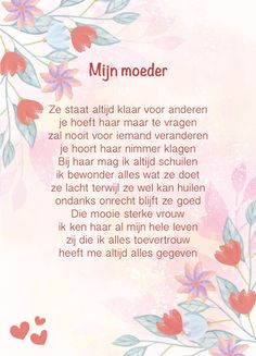 Kaart 'Moeder' – Pilula Mama Quotes, Qoutes, Beste Mama, Dutch Quotes, Faith In Love, Mom And Dad, Ramadan, Birthday Wishes, Special Day