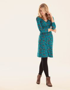 Grace Dress - A customer favourite with a crossover front and subtle ruching at the shoulders.