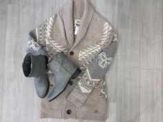 We love all the soft shades of this outfit! So gorgeous for those sleepy, winter days! We feel cozier even just looking at it! Now we just need a hot chocolate from #Tims! #PlatosClosetBrampton #Cozy  //#TNA Sweater,medium, $40//#NineWest boots, 10, $24// | www.platosclosetbrampton.com