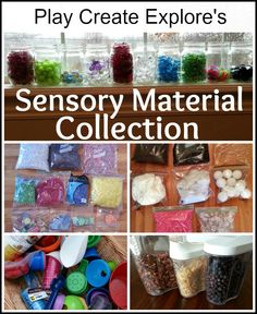 Sensory Material Collection. TONS of sensory materials and ideas.