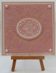 Tinyrose's Craft Room: Elegant Wedding Card made with dies Designed by Sue Wilson for Creative Expressions