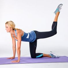 Your BOOTYLICIOUS workout! Sculpt by doing this Diagonal Butt Buster. #fitness | Health.com