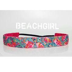 Flamingo Beach ~  Non Slip Adjustable Headband