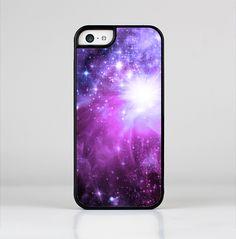 The Violet Glowing Nebula Skin-Sert for the Apple iPhone 5c Skin-Sert Case
