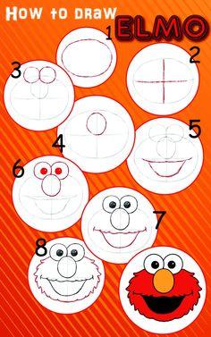 Elmo birthday party ideas for the budget conscious parent elmo how to draw elmo solutioingenieria Choice Image