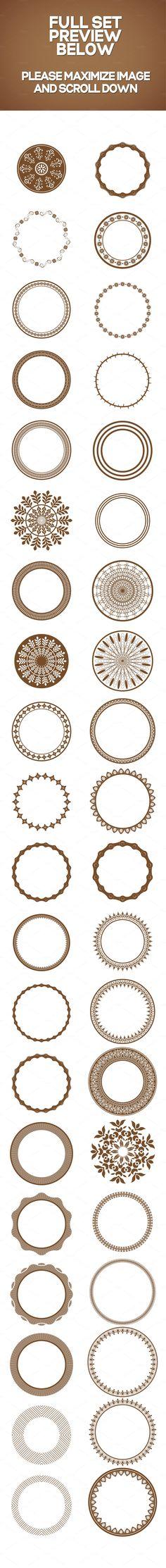 40 Circular Shapes - Vector - Vol. 4 - Objects - 5