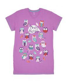 Hatley Hoo's Sleepy Owl One Size Sleepshirt