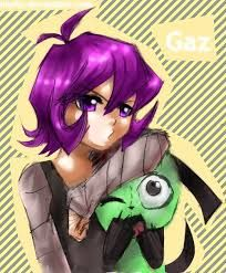 Gaz hangs out with GIR. Invader Zim Characters, Anime Version, Goth Girls, Hanging Out, Girly, Comics, Animals, Fictional Characters, Aliens