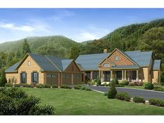 Mountain House Plan, 053H-0013